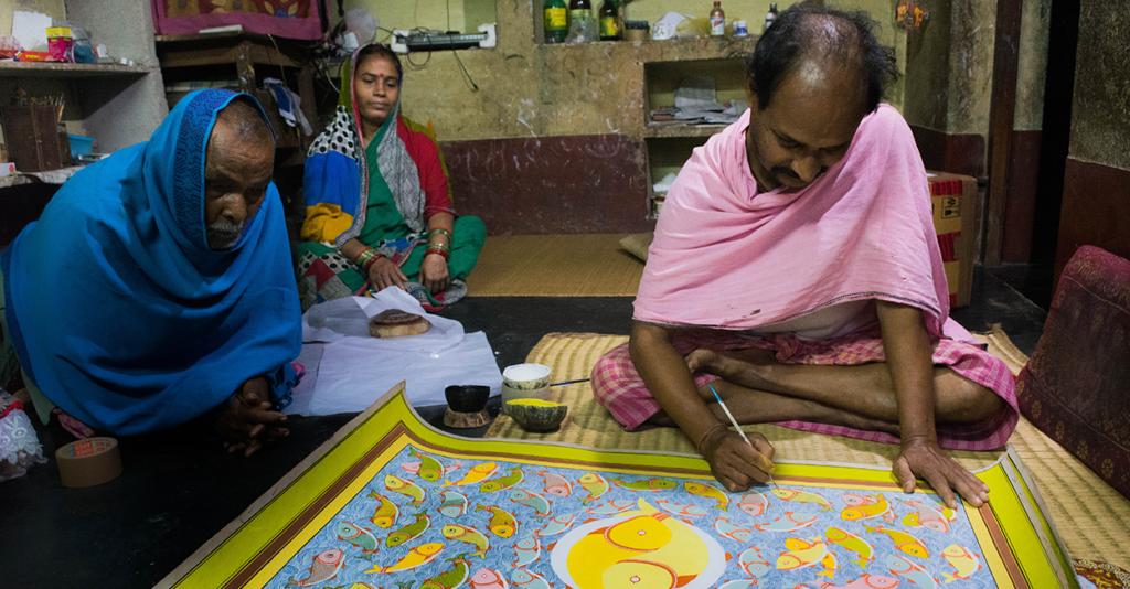 Artists of Raghurajpur Pattachitra